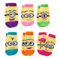 Despicable Me Minion 6-pk. Low-Cut Socks - Toddler, Size: 3T-4T (Blue)