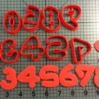 Jello Number Cookie Cutter Set - BY: Joyous Bravado LLC