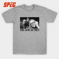 T Shirt Sale Soundgarden The Lone Gunmen (X-Files) Grunge Style Rock Band T-Shirt Men Crewneck Short Sleeved Clothing Teenage 3D