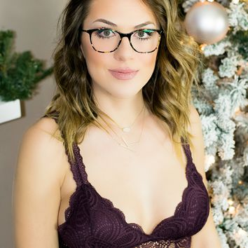 The Darcy Bralette- Dark Plum