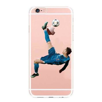 Real Madrid Cristiano Ronaldo & Lionel Messi Phone Cases For iPhone 5 5C SE 6 6plus 7 XR XS MAX Hard plastic Cover