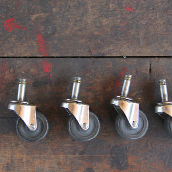 vintage industrial swivel casters, bassick