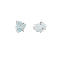Aquamarine Prong Studs