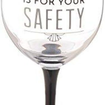 Pavilion Gift Company 68532 Pretty Inappropriate My Alone Time Is For Your Safety Wine Glass Candle Holder Silver