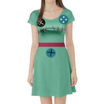 Scrump Lilo and Stitch Inspired Short Sleeve Skater Dress