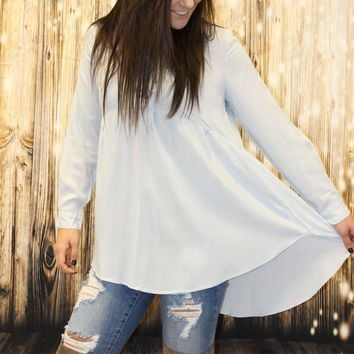 High-Low baby doll blouse