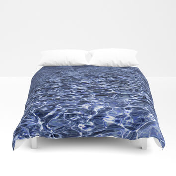water and ripples Duvet Cover by VanessaGF