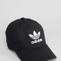 adidas Originals Trefoil Cap In Black BK7277 at asos.com