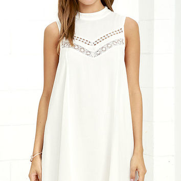 Gentle Fawn Jami White Swing Dress