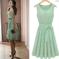CHERRYDRESS single piece vest skirt Chiffon 8039 new