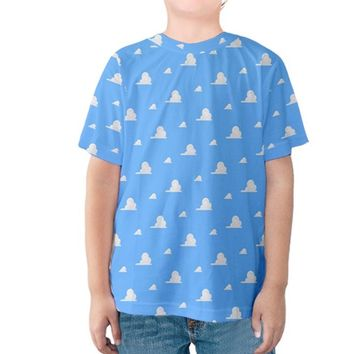 Kid's Andy's Room Toy Story Cloud Wallpaper Inspired Shirt