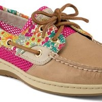 Sperry Top-Sider Bluefish Liberty Floral Print 2-Eye Boat Shoe Linen/BrightPink, Size 5M  Women's Shoes