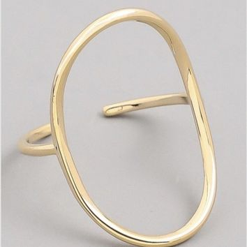 Fame Accessories Circle Ring