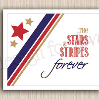 """Stars and Stripes - Printable File - 11"""" x 8.5"""" - Patriotic - 4th of July - Summer Decor"""