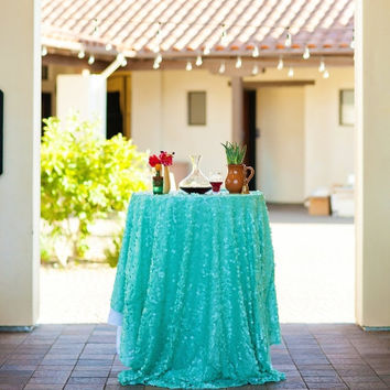 Mint Chip Sequin Tablecloth