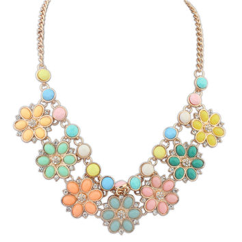 Shiny Stylish Gift Jewelry New Arrival Floral Necklace [4918878852]