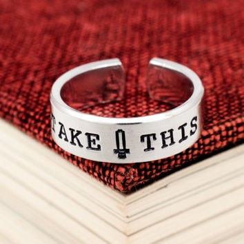Take This Ring - Legend of Zelda - Adjustable Aluminum Cuff Ring - Style B