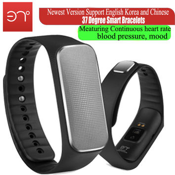 2016 newest  Version 37 degree  smartband Smart bracelet fiteness tracker meaturing heart rate blood pressure mood pedometer