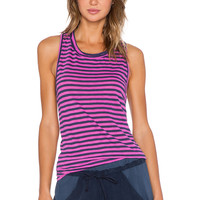 Stateside Navy Classic Stripe Tank in Pink