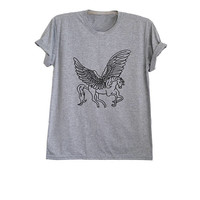 Unicorn t shirt gifts men top pegasus shirt womens t shirts trendy fashion outfits animal printed tees size XS S M L
