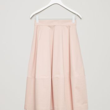 Flared mid-length skirt - Biscuit - Sale - COS US