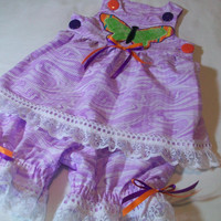 3 - 6 Month Baby Girl Clothes - Baby Girl Pantaloons Set - Baby Girl Summer Outfit -