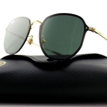 NEW Authentic RAY-BAN BLAZE HEXAGONAL Gold Green Sunglasses RB 3579N 001/71