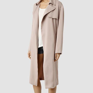 Womens Venn Split Mac (Dusty Pink) | ALLSAINTS.com