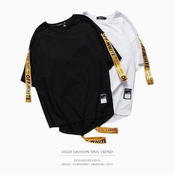 spbest Off White stripe Tshirt Men