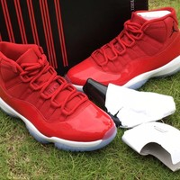 Beauty Ticks Nike Air Jordan 11 Retro Gym Red Basketball Shoes Aj11 378037 623