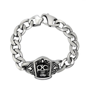 Great Deal Awesome Shiny Gift Stylish New Arrival Hot Sale Punk Men Titanium Strong Character Fashion Accessory Bracelet [6526709827]