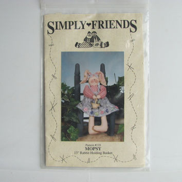Mopsy Rabbit Craft Sewing by Simply Friends Pattern #119