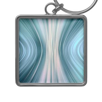 Aqua Turquoise Teal Driving Dreams Square Keychain