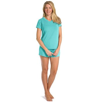 Women's EcoFabric™ Pajama Set with Gift Box- Relaxed Tee and Boxer Short