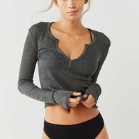 Out From Under Scarlett Notch Henley Top | Urban Outfitters