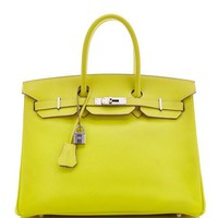 Heritage Auctions Special Collection Limited Edition Hermes 35Cm Lime