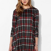 Glamorous Check-Print Trapeze Dress - Urban Outfitters