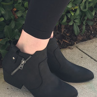 Turn Back Time Booties - Black