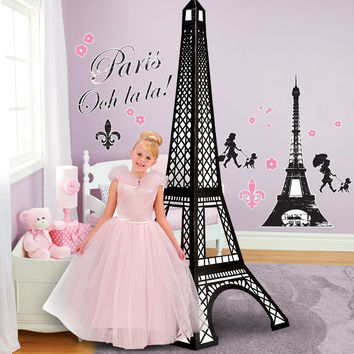 Paris Damask Giant Wall Decals and Standup Kit