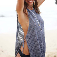 Sexy Beach Cover up Bandage Knitted Beach Tunic Pareos Bathing Suit Cover ups Womens Swimsuit Coverups Beachwear Bikini Cover up