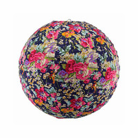 Midnight Floral Fabric Lantern