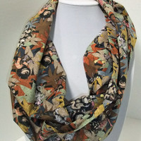 Infinity Scarf - Loop Scarf - Circle Scarf -made by me with Where the Wild Things Are fabric