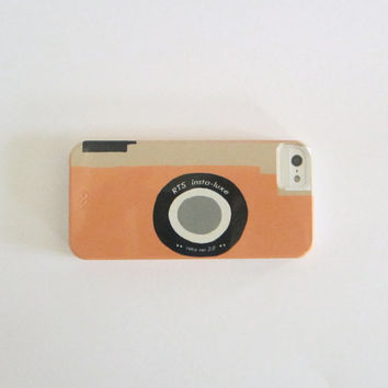 iPhone 4 Case Camera Orange Peach Tangerine Vintage Retro  IPhone 5 case Modern redtilestudio