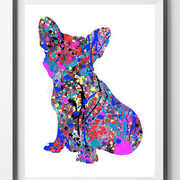 Printable French Bulldog Dog, frenchie dog Instant Download, French Bulldog digital print, frenchie digital illustration, wall art gift