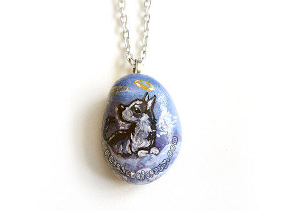 husky necklace pendant from rainbowofcrazy on etsy