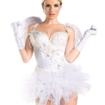 BW1429C 2 Piece  2 for 1 White Swan / Angel Costume - Be Wicked