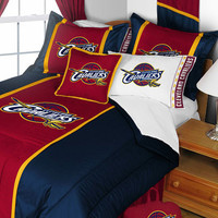 NBA Cleveland Cavaliers Comforter and Pillowcase Set Basketball Team Logo Bedding: King