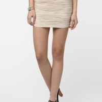 Sparkle & Fade Textured Waves Mini Skirt