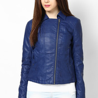 Biker Chic Ink Pu Jacket