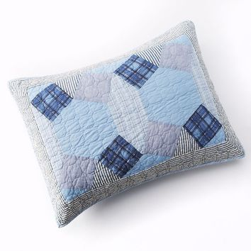 Home Classics Statements Brennan Reversible Quilted Sham (Blue)